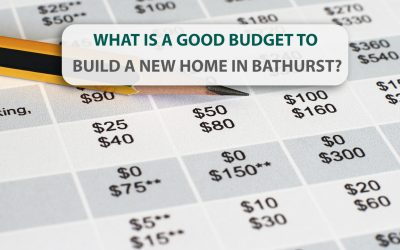 What is a good budget to build a new home in Bathurst?