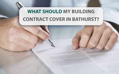 What should my building contract cover in Bathurst?